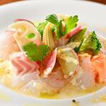 ビストロ ル フルール - 真鯛と季節野菜のカルパッチョ