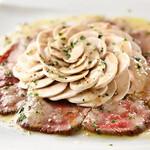 ビストロ ル フルール - 料理写真:炙り和牛とマッシュルームのタリアータ