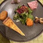 Trattoria YAMAKAWA - 前菜盛り合わせ