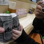 北海道ラーメン 新宿源 - 乾杯の図