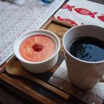 13760392 - レアチーズケーキ&コーヒー
