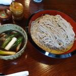 寿楽庵 - 鴨汁そば…1000円(大盛+300円)