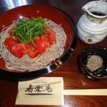 寿楽庵 - 完熟トマト蕎麦…900円(大盛+300円)