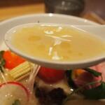 銀座 篝 - 鶏白湯Sobaトリュフ仕立て(スープ)