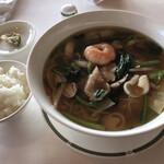 ジャスミンガーデン - 五目スープそば、ライス、搾菜