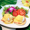 Cafe Kaila  - 料理写真:厚切りベーコンエッグベネディクト