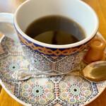 モロッコ タジンや - モロッココーヒーはちょっと変わった味わい