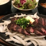 四季菜々 - 牛ハラミのビフテキ定食