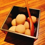 ホナアザブ - 鶉の卵醤油漬け