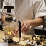 銀座 結絆 - 松茸のサイフォン仕上げ椀