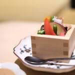 銀座 結絆 - 升野菜すっぽん煮凝り