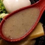 13762053 - 濃厚ラーメン軍団のせ(スープ)