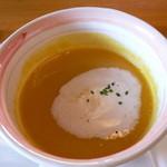 スイスレストラン アルポン - セットメニューのかぼちゃのスープです