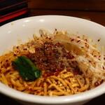 自家製麺 ほうきぼし - 汁なし担々麺(3倍辛&山椒増し)アップ