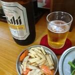 137634676 - 瓶ビール&お通し(少し多い)(^^;