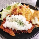 ハイライト - ハーフ&ハーフ定食(540円)