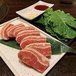 焼肉ダイニング白李 燦 - 豚バラ三枚肉