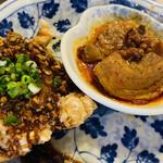 武漢熱干面 Juan - 温菜2種です 熱々です♡♡ᵕ̈*⑅