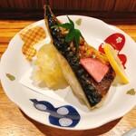 喜禄 - サバの塩焼きと穴子の天ぷら