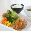 Kinosakimarinwarudokafeandoresutoranterasu - 料理写真:但馬牛100%粗挽きハンバーグ