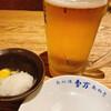 鳥万 - 料理写真:お通し 大根おろしとうずら生卵