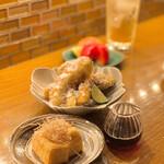 福島酒場 おお㐂 - 追加料理・松茸のフライと厚揚げ/コース・厚揚げ