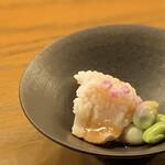 福島酒場 おお㐂 - コース・先付け 鱧と茶豆の梅酢和え