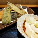 手打ちそば天ぷら 那央人 - 夜もOKランチ1280円の天ぷらと自家製奴