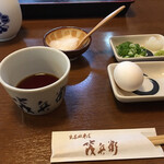 Izushisarasobamohei - 薬味は自分でセッティング