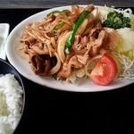 かねや食堂 - 生姜焼き定食(750円)