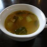 wattsuzaraifusutairu - ランチのスープ