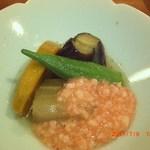 天ひろ - 夏野菜の炊き合わせです。