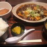 居酒屋 太郎さん - 味噌麻婆定食(ライス大盛りサービス)