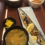 居酒屋 太郎さん - サンマ塩焼き定食