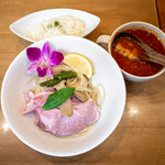 137683461 - トマトつけ麺 (バターライスセット)