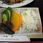 13769929 - マカロニサラダとお漬け物