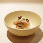 新ばし 星野 - 鯛茶の飯蒸し