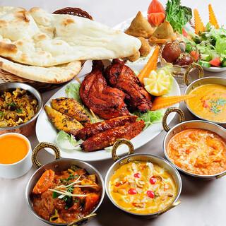 本場インドの味を再現した美味しさでどれも絶品◎
