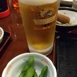 かつ亭 - 旨し❗️生ビール‼️