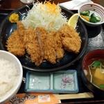 かつ亭 - 薩摩熟成ヒレかつ定食(中)❗️