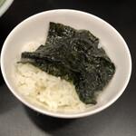 松壱家 - 海苔巻きご飯 巻く前