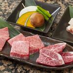 炭火焼肉 萬成館 - 上肉もり合わせ3,680円