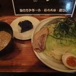 13770308 - さんやのつけ麺(特盛・0辛・むすび付)