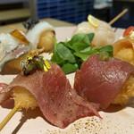串カツと小鉢 マジマスタンド -