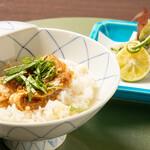 割烹 新 - 揚物 秋刀魚の香梅揚げ 食事 鯛茶漬