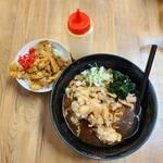 137710700 - 鶏冷やしラーメン+ミニ豚丼セット(980円)です。