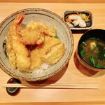 食肴旬菜 富一 - 本日の天丼