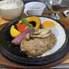 なんぷてい - 料理写真:熱々のハンバーグ定食