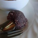 サンモリッツ - モーニングセットのトーストにはお好みで小倉をのせて♪