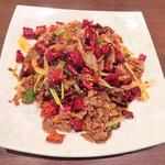 東北人家 - ラム肉のクミン炒め